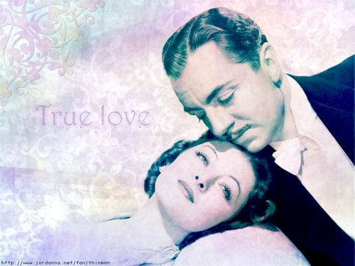 Classic Movies wallpaper possibly with a sign and a portrait titled William Powell & Myrna Loy