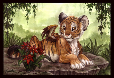 Winged बाघों