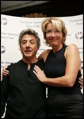 With Dustin Hoffman