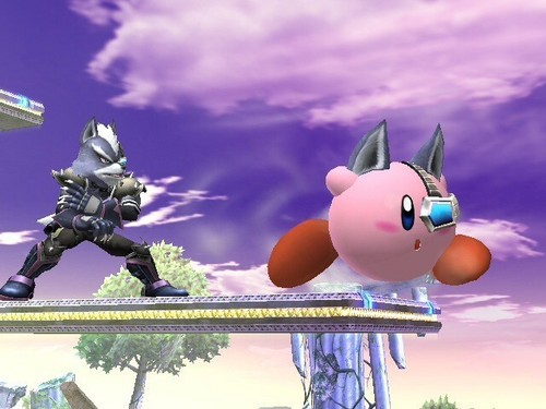 Super Smash Bros. Brawl 바탕화면 called 늑대 Kirby
