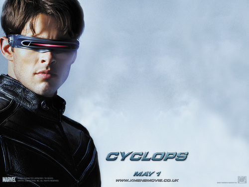 X-Men Cyclops blue background