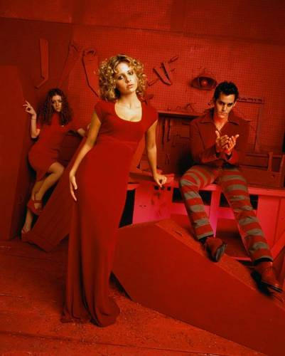 Buffy the Vampire Slayer wallpaper titled Xander,Buffy & Willow