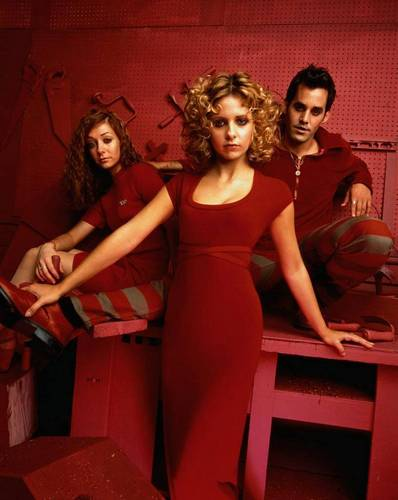 Buffy the Vampire Slayer achtergrond called Xander,Buffy & Willow