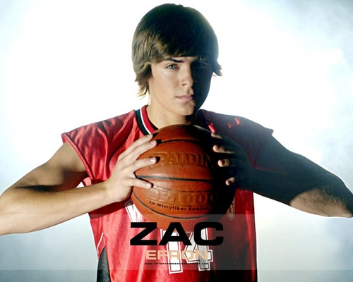 Zac Efron wallpaper with a basketball player, a dribbler, and a basketball entitled Zac Efron