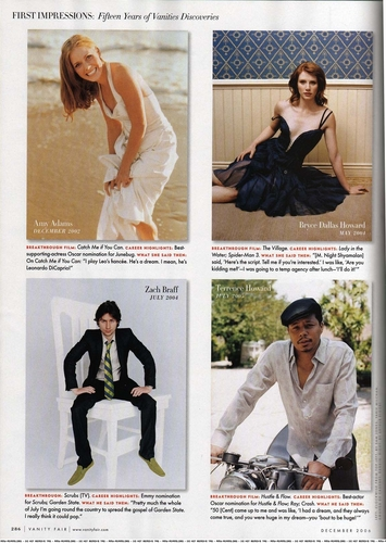 Zach in Vanity Fair Dec 06