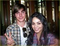 Zanessa on the set of HSM3