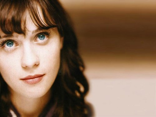 Zooey Deschanel wallpaper containing a portrait entitled Zooey