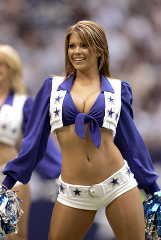 a Dallas Cowboys cheerleader