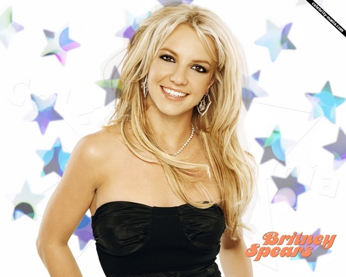 Britney Spears wallpaper with a cocktail dress, a bustier, and a portrait titled brit