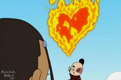 feu cœur, coeur