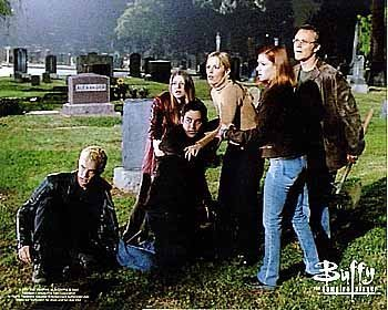 gang in the graveyard