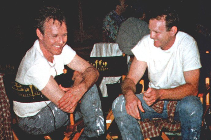 giles and his stunt double