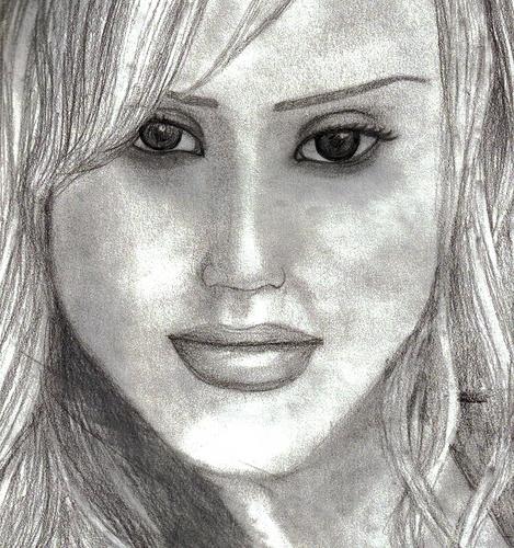jessica alba drawing