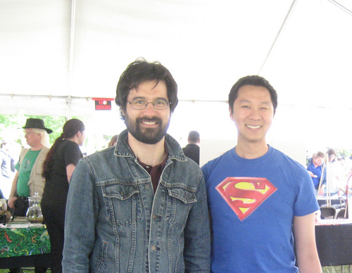johnminh with writer/director Greg Pak