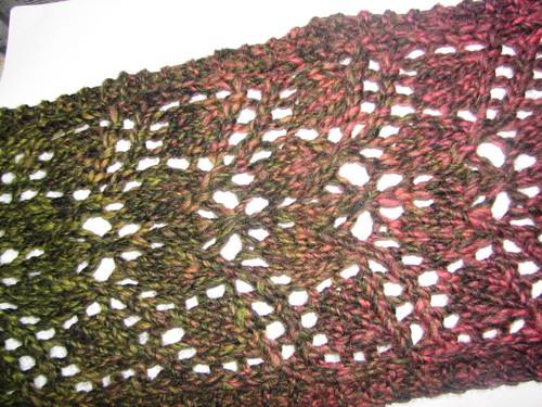 জরি leaves scarf