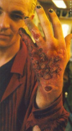 mak-up on behind the scenes of buffy