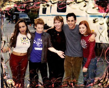 seth, nicolas, aly & some buffy staff