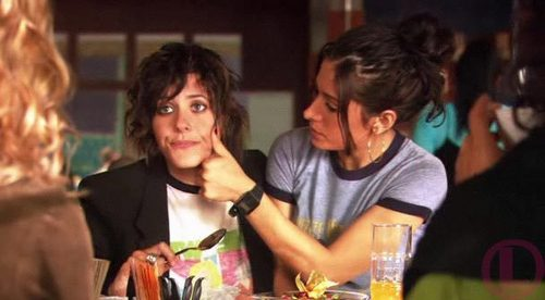 Katherine Moennig wallpaper possibly containing a brasserie and a portrait called shane & carmen
