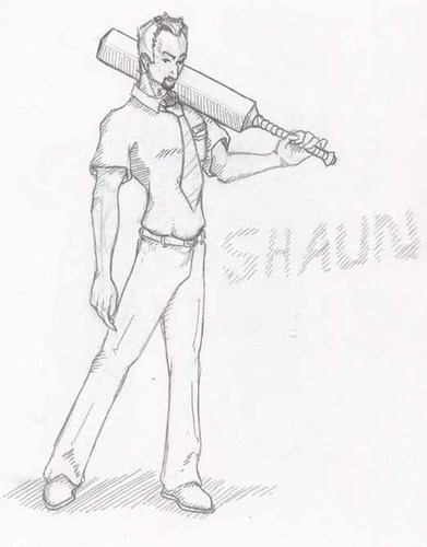 shaun of the dead tagahanga art