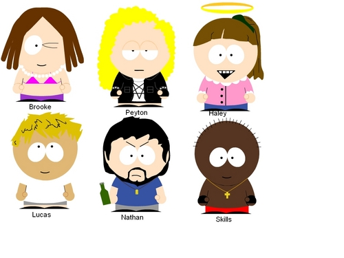 one árbol colina fondo de pantalla entitled south park characters