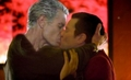 spike and captain john kissing