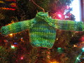 sweater ornament - knitting photo