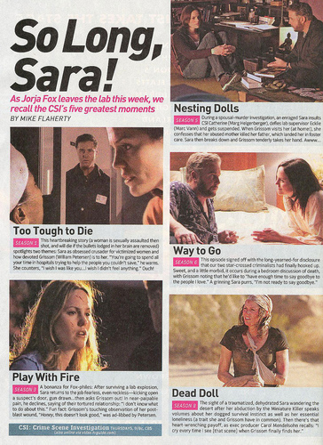 A look at Sara's Best - csi Photo