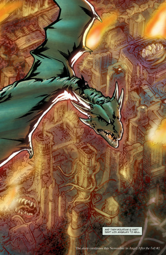 Buffyverse Comics wallpaper containing animê entitled angel comic cover