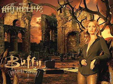 Buffy the Vampire Slayer achtergrond possibly containing a brownstone, a street, and a brasserie titled Buffy