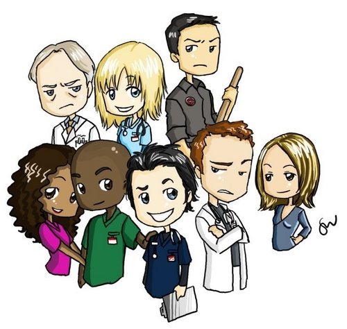 Scrubs wallpaper with anime entitled Cartoon cast