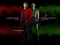 Clark Kent & Green Arrow - smallville wallpaper