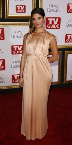 Cote de Pablo پیپر وال probably with a رات کے کھانے, شام کا کھانا dress called Cote de Pablo