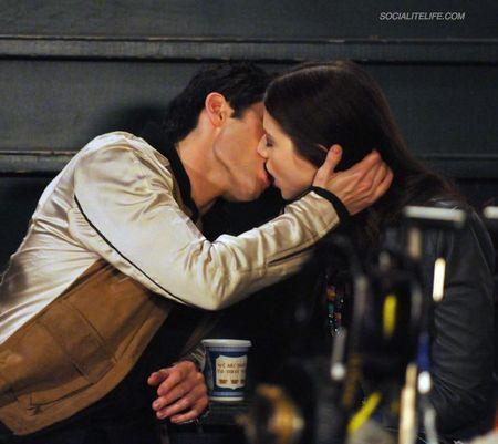 Dan and Georgina Kissing