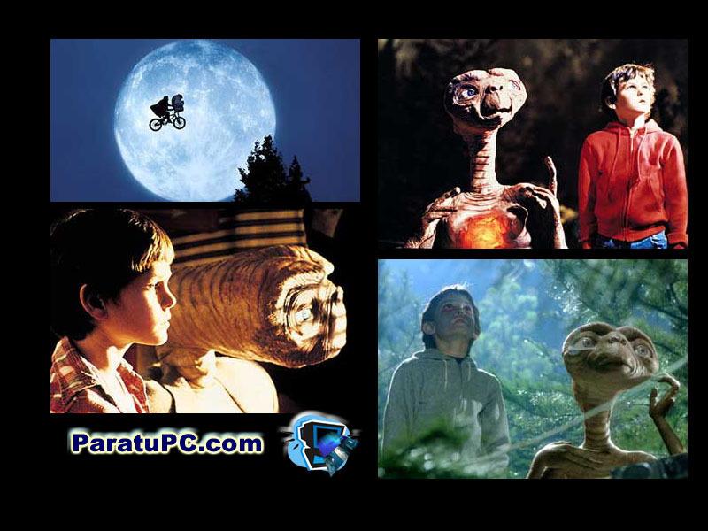 ETとエリオットの仲良しシーンの壁紙