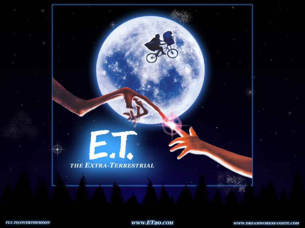 ETとエリオットの指が近づく壁紙