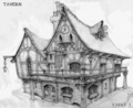"Fable 2 concept art ""Inn"" - fable photo"