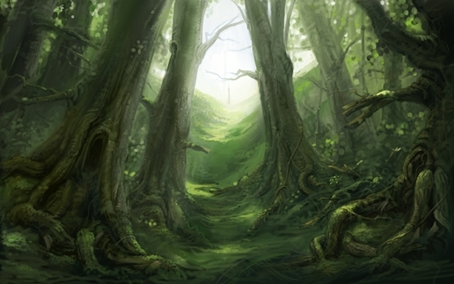 "Fable 2 concept art ""Woods"""