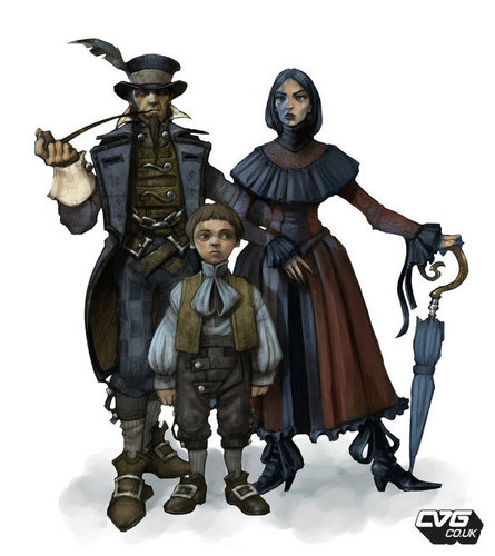 "Fable 2 concept art ""Middle Class Family"""