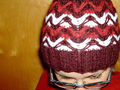 Herringbone Slipped Stitch Hat - knitting photo
