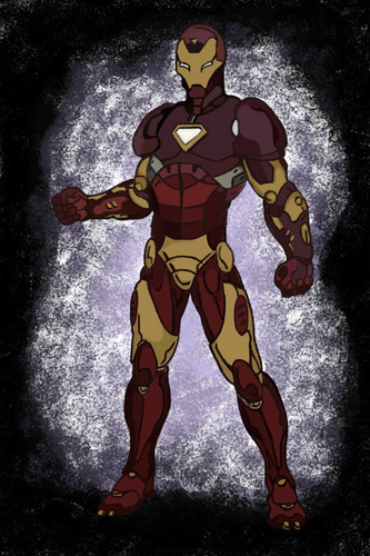 Iron man painting done on photoshop