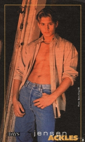 Jensen Ackles Hintergrund possibly containing a sign titled Jensen In His Modelling Days
