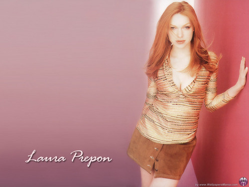 Laura Prepon wallpaper possibly with hosiery, bare legs, and a cocktail dress entitled Laura
