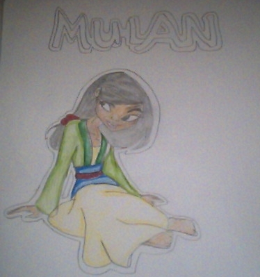 Mulan :P - drawing Fan Art