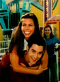 Nicholas B. & Charisma Carpenter - btvs-behind-the-scene photo