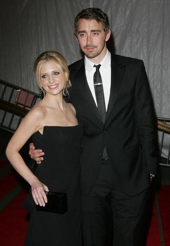 Sarah and Lee Pace at Gala