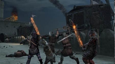 반지의 제왕 바탕화면 with a 불, 화재 called The Lord of the Rings: Conquest (game)