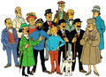 Tintin & friends - tintin photo