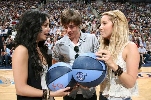 Vanessa, Zac & Ashley at the Jazz Game