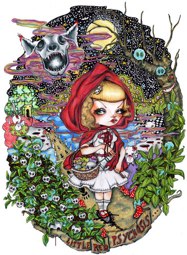 Fairy Tales & Fables wallpaper called  Little Red Psychosis