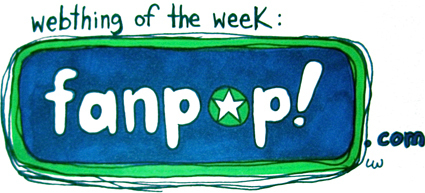 A Drawn fanpop Logo from the Site Webthing of the Week
